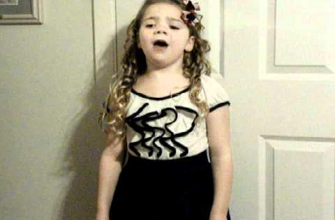 8 year old singer, Emma Grace, singing the National Anthem, Feb 2011