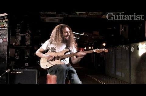 Guthrie Govan demos his new Charvel prototype for Guitarist magazine