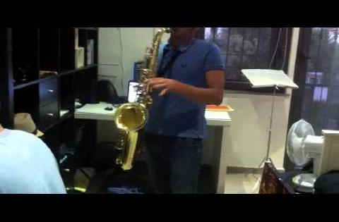 an amazing 15 yr old tenor sax - piano duet