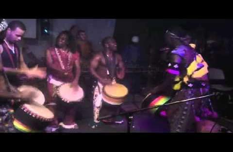 Amazing Djembe Solo by Djembe Fola Eric Bli Bi  Gore w/FAMATO Paralounge Drum Gathering
