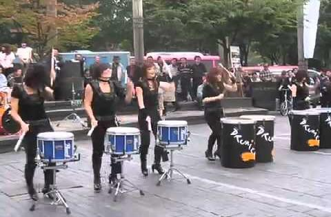 Female Korean Drum Band