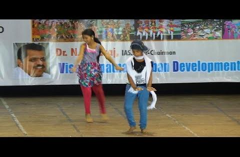 Dance: school kids dance performance on stage
